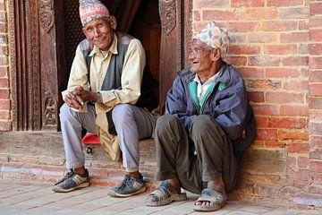 Nepalese mannen sur Marieke Funke