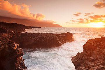 Küste bei Sonnenuntergang, El Hierro, Kanarische Inseln, Spanien von Markus Lange