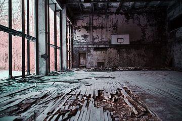 Turnhalle Pripyat Infrarot von Lars Beekman