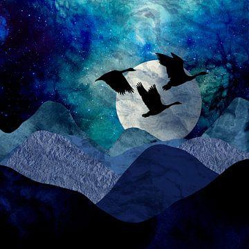 Nacht in den Bergen von Karin Schwarzgruber