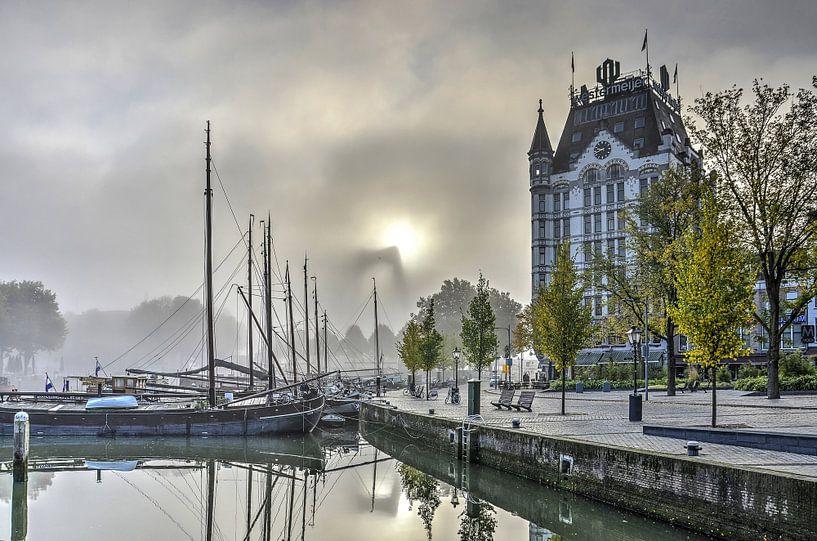 Mist bij de Oude Haven van Frans Blok
