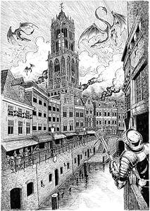 Wyverns boven Utrecht van Peter Nederlof