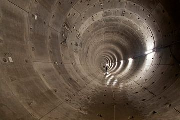 Abstracte ronde  Metro tunnel buis van Maurice de vries