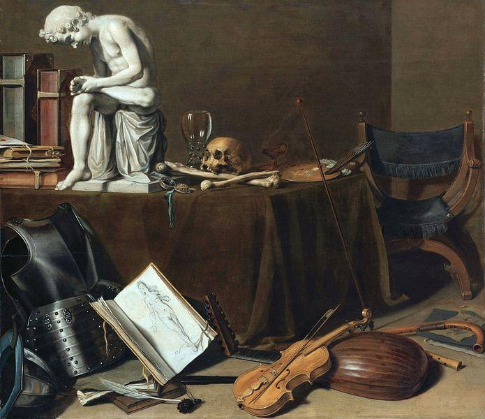 Vanitas-Stillleben mit dem Dornenauszieher, Pieter Claesz von Meesterlijcke Meesters