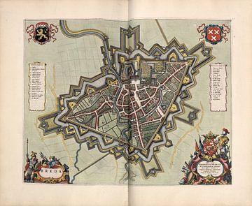 Breda, Stadsplattegrond Joan Blaeu 1652 van Atelier Liesjes