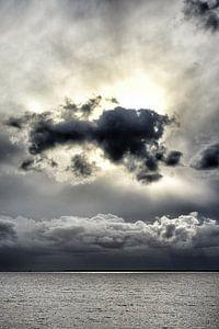 Cloudporn Afsluitdijk zicht op het IJsselmeer