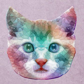 Regenbogen Katze van Anne Ebert