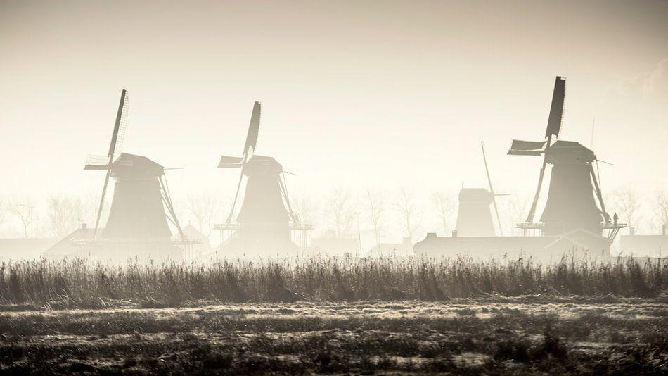 Molens van de Zaanse Schans - sfeeropname van Keesnan Dogger Fotografie