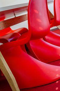 rode stoelen - design