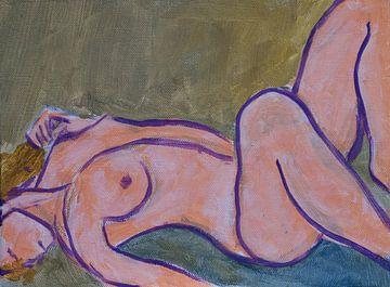 Liegende weibliche Nackte von Paul Nieuwendijk