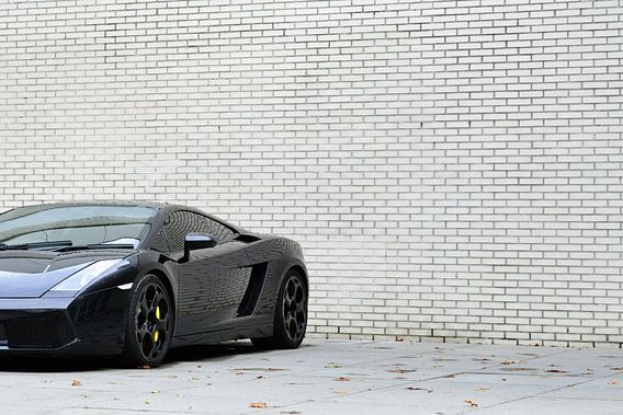 Lamborghini Gallardo in het zwart