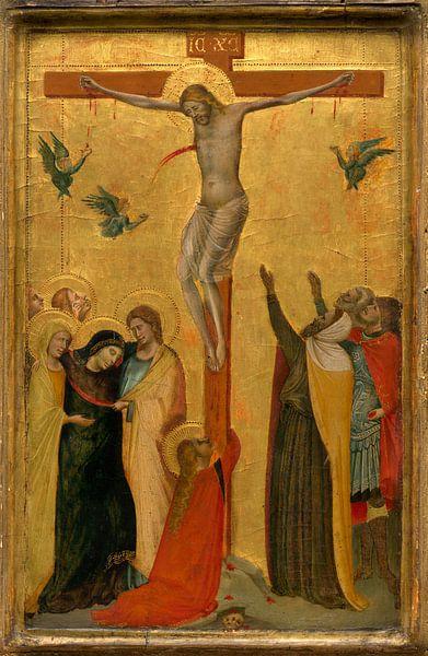 De kruisiging, Toegeschreven aan Bernardo Daddi van Liszt Collection
