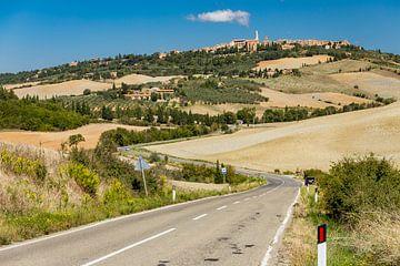 Straße nach Pienza von Easycopters