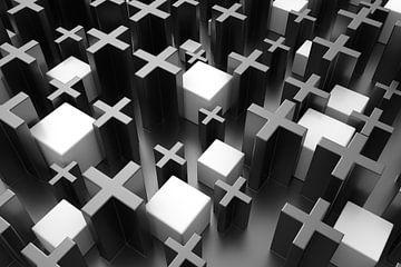 Kreuze und Kuben von Jörg Hausmann