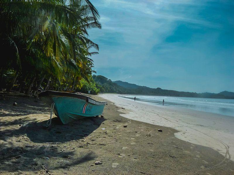 Boot op het strand van Koop je Canvas