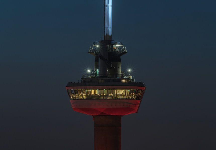 Het kraaiennest van de Euromast in Rotterdam van MS Fotografie