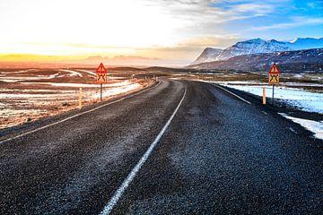 Weg op Ijsland von Sander Meertins