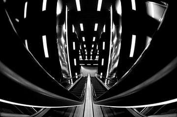 Metro Station Fish-Eye Futuristisch van Maurice Moeliker