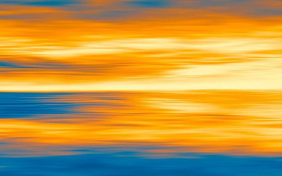 Zeegezicht op Planet P1 van Jan Brons