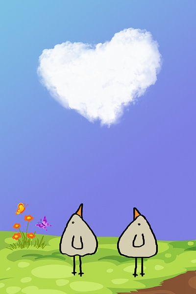 eine Love Wolke-PiepVogel von Marion Tenbergen