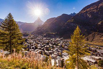 Zermatt and the Matterhorn in Switzerland van