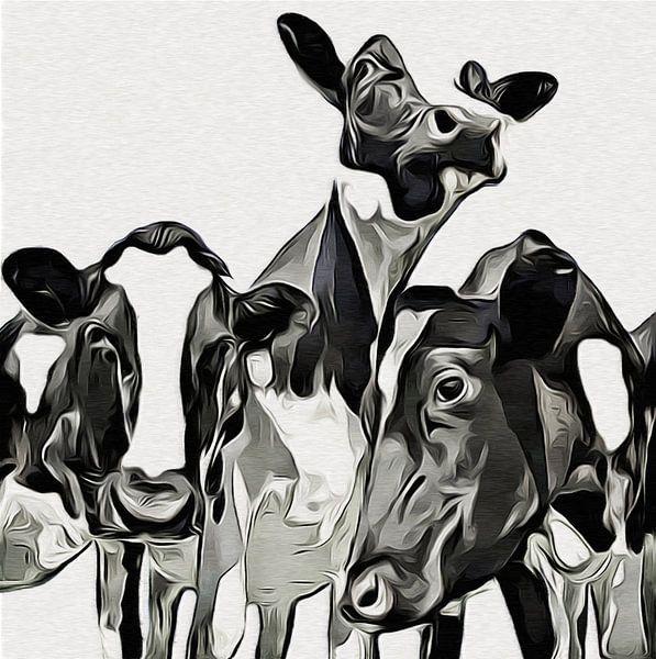 Koeien (Zwart-wit) van Color Square