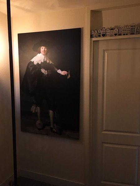 Klantfoto: Marten Soolmans van Rembrandt van Rijn van Marieke de Koning, op canvas