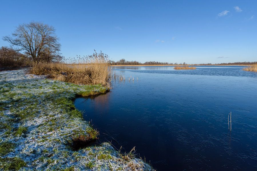 Ankeveense plassen in de winter, Ankeveen, Wijdemeren, Nederland