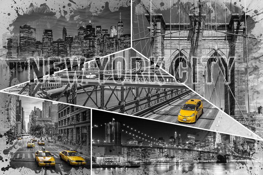 NEW YORK CITY Urban Collage No. 4 | colorkey van Melanie Viola