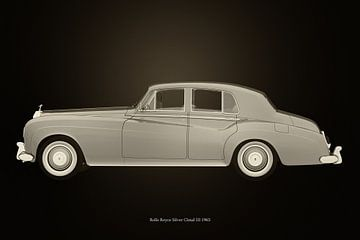 Rolls Royce Silver Cloud III Zwart en Wit