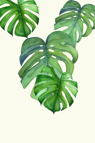 Monstera leaf van Dreamy Faces