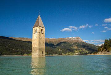 Kerktoren van Alt-Graun, Reschensee von Dirk Jan Kralt