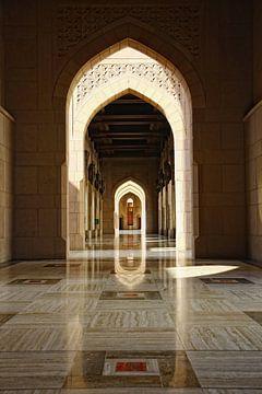 Große Sultan Qaboos Moschee  Muscat Oman von Yvonne Smits