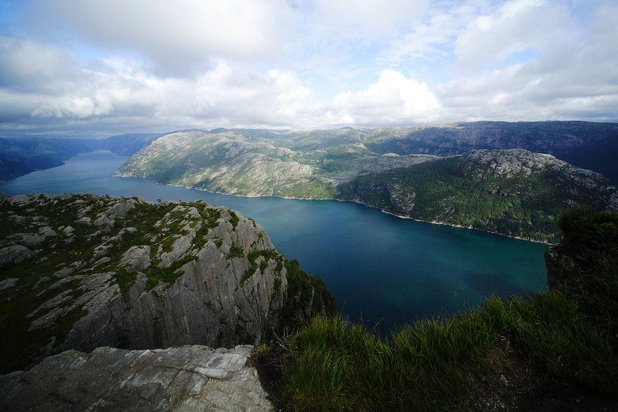 Noorwegen Preekstoel uitzicht