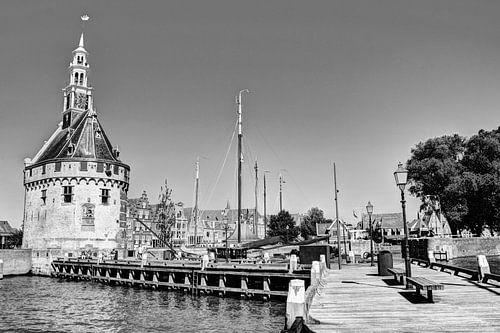 Hoorn Noord-Holland Nederland Haven Zwart-Wit