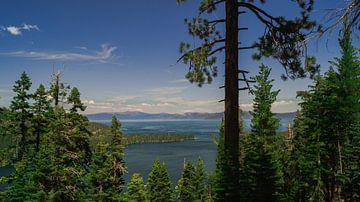 Uitzicht Lake Tahoe van Michelle van den Hondel