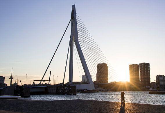 Liefde bij de Erasmusbrug, Rotterdam van Francisca Snel (Cissees)