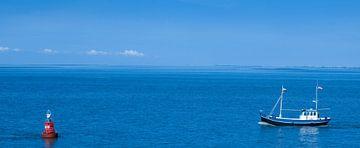 Garnalenvisser op de Waddenzee. von Hennnie Keeris