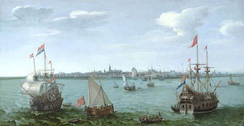 Ansicht von Hoorn von Hendrick Cornelisz Vroom von Hollandse Meesters