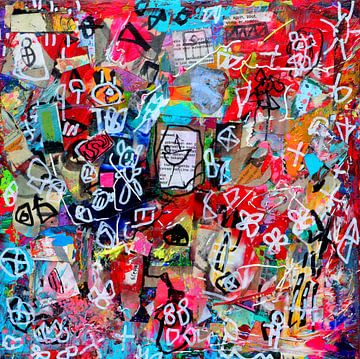 """Collage schilderij """"De kracht van je authentieke zelf"""" van"""