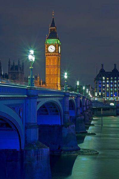 Big Ben en Westminster Bridge te Londen van Anton de Zeeuw