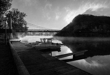De brug bij Cajarc, Lot - Frankrijk von Wethorse Heleen