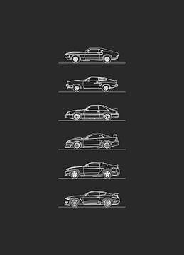 Ford Mustang Evolutie van Artlines Design