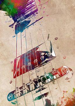 Gitarre 21 Musikkunst #Gitarre #Musik von JBJart Justyna Jaszke