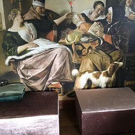 Photo de nos clients: Jan Steen, 'Soo voer gesongen, soo na gepepen' sur Meesterlijcke Meesters, sur medium_12