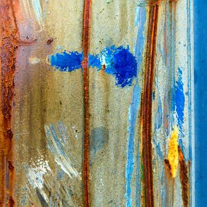 Roestig blauw en bruin - studie 5