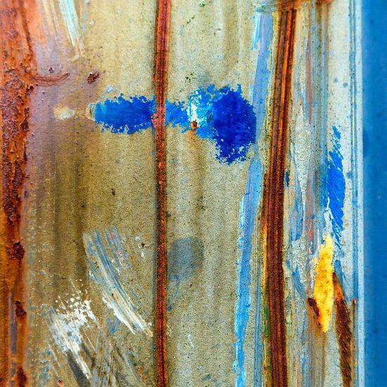 Roestig blauw en bruin - studie 5 van Texel eXperience