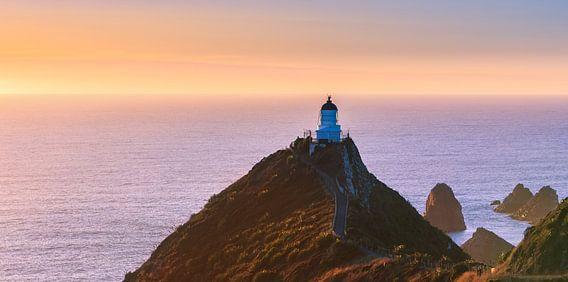 Nugget Point Lighthouse, Zuider Eiland, Nieuw Zeeland