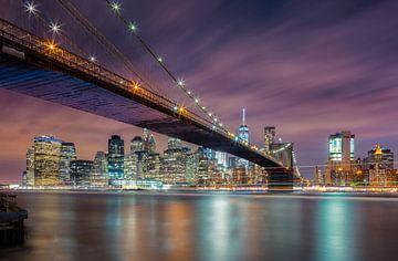 Brooklyn Bridge at Night, Michael Zheng van 1x