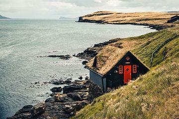 Huisje op de Faeröer Eilanden van Expeditie Aardbol